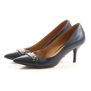 Coach Women's Black Leather Bowery Heels Pumps 6